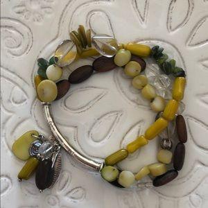 B2095 three strand silpada stretch bracelet
